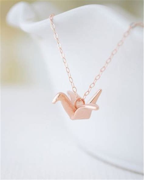 Origami Swan Necklace - gold origami crane necklace jewelmint my style