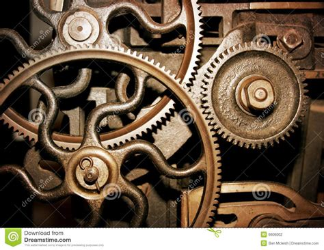 cogs in a machine stock photo image of success motion
