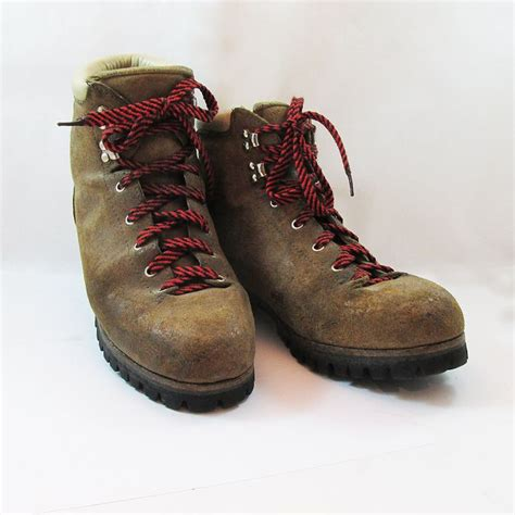italian hiking boots for vintage italian made vasque hiking boots mountaineering