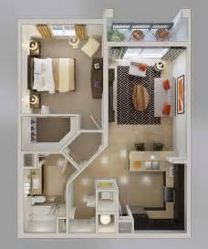 1 Bedroom Appartment by 20 One Bedroom Apartment Plans For Singles And Couples