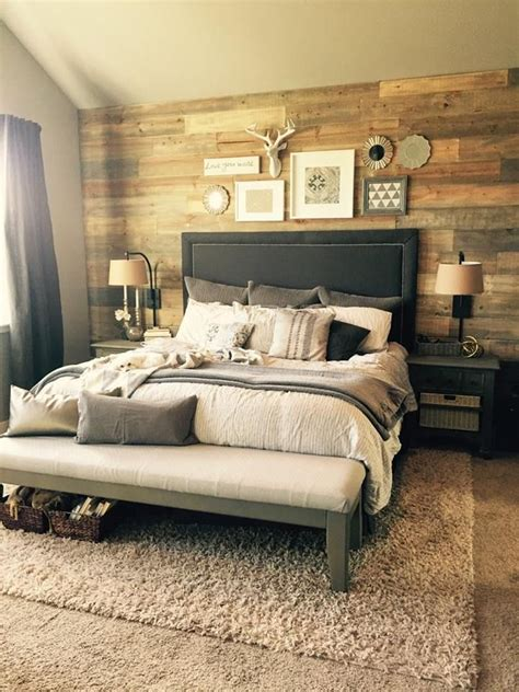 shiplap bedroom stained shiplap wall in bedroom diy projects pinterest