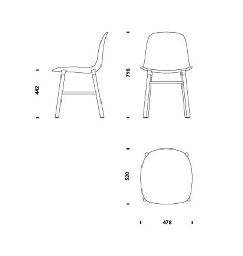 chair side view drawing 2d 3d cad files