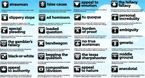 exle of logical fallacy logical fallacy summaries with exles with image