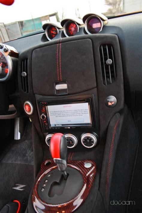 custom nissan 370z interior custom interior with alcantara carbonfiber nissan 370z