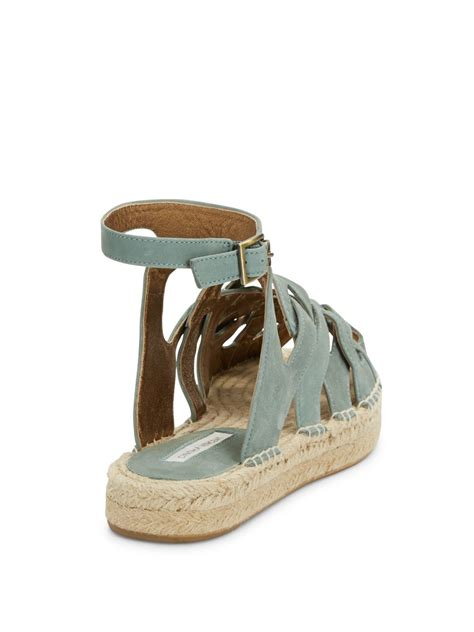 cynthia vincent sandals cynthia vincent pebbles suede sandals in gray lyst