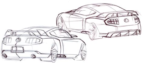 the gallery for gt neoclassical architecture sketch 2010 ford shelby gt500 design sketches photo gallery