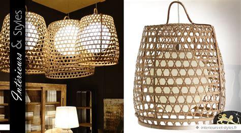 Luminaire Exotique Bambou by Luminaire Suspendu En Bambou De Style Exotique 65 Cm