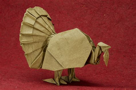Origami Turkey - zing origami birds