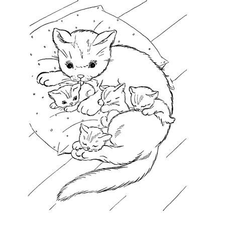 Coloring Pages Of Baby Cats | free coloring pages of cute baby kittens
