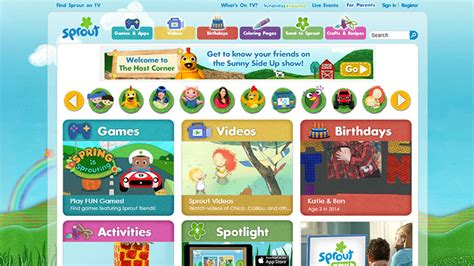 Sprout 1 7 End school websites your children will
