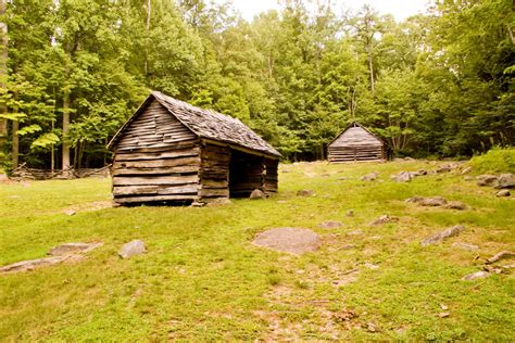 cabin on baskins creek trail smoky mountains on august 8