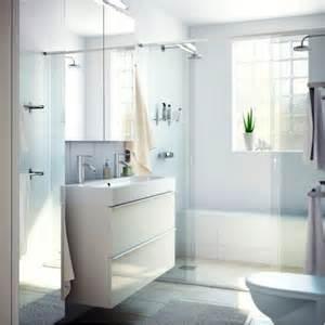 godmorgon white vanity gives polished clean look this bathroom small modern kitchen design ideas hgtv pictures amp tips