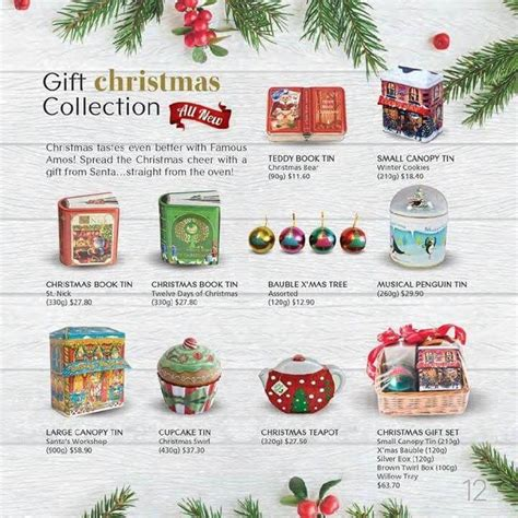 famous amos christmas collection loopme singapore