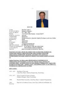 Marine Chief Engineer Sle Resume by Resume For Linkedin