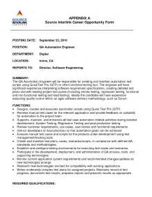 Aoc Test Engineer Sle Resume by Import Export Resume Template Enforcement Resume