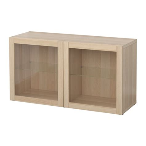 Best 197 Shelf Unit With Glass Doors Sindvik White Stained Oak Effect Ikea