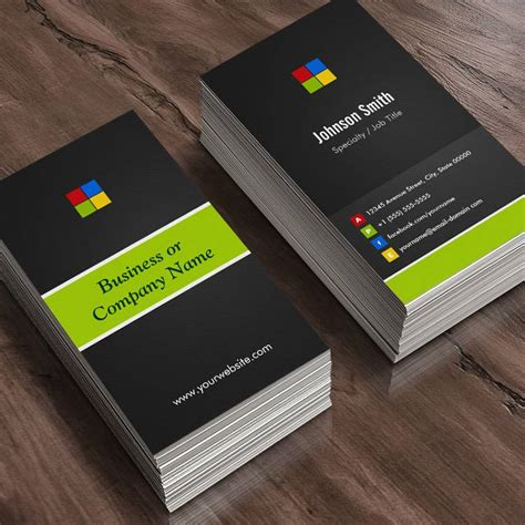 innovative business card templates real estate broker premium creative colorful