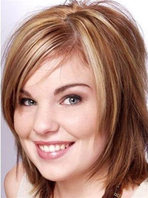 hairstyles for round face short forehead haircuts for big foreheads and round faces appropriate to