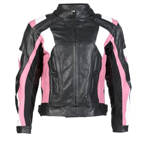 pink motorcycle jacket black pink leather womens motorcycle jacket with