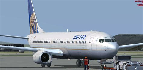 united flight united airlines boeing 737 800 vc for fsx
