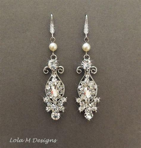 Ohrringe Hochzeit Vintage by Vintage Inspired Bridal Earrings Wedding Jewelry