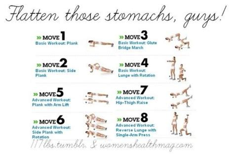 flat stomach exercise chart stay fit stay strong time to