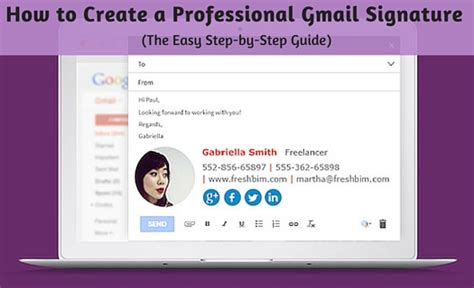 how to create a professional gmail signature the easy