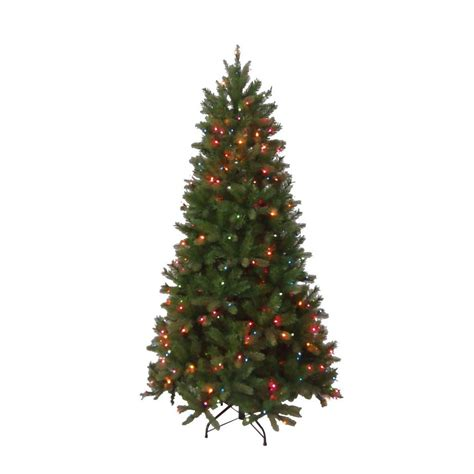 5 or 6ft real feel christmas trees at bargain prices national tree company 6 5 ft pre lit feel real bavarian pine hinged artificial tree