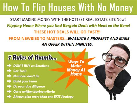 how to flip houses with no money