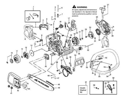 mcculloch parts diagram mcculloch mac 7 38 mac 738 952802197 chainsaw chassis
