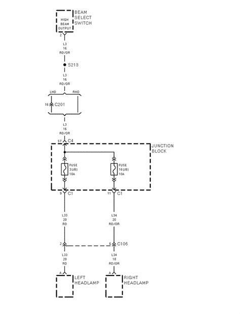 1998 jeep wrangler headlight wiring diagram wrangler