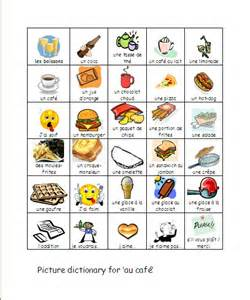 year 6 french food picture dictionary