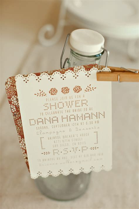 Handmade Bridal Shower Invitations - sweet handmade bridal shower invitations invitation crush