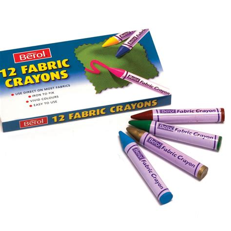 How To Get Crayon Out Of Upholstery by Berol Fabric Crayons Pens And Pencils For Grown Ups From