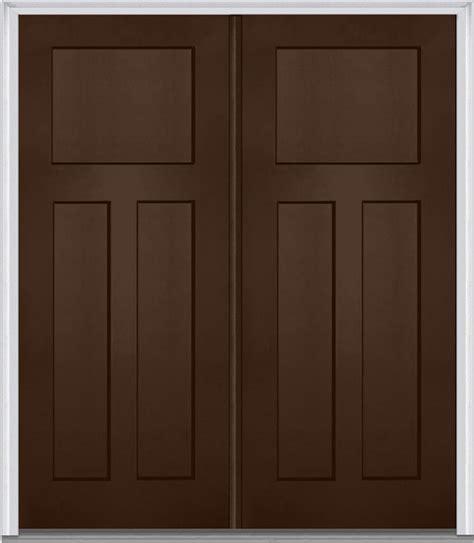 3 Panel Exterior Door 3 Panel Shaker Fiberglass Mahogany Door Front Doors By Verona Home Design