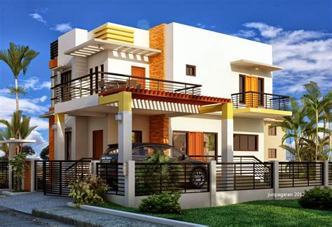 Wide Lot Floor Plans by Modern Minimalist Design Houses Two Floor Home Design