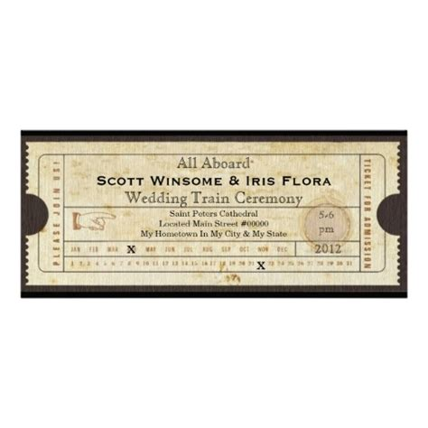 12 best images about train ticket invitations on pinterest