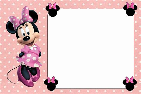 minnie mouse card templates free minnie mouse invitation template free