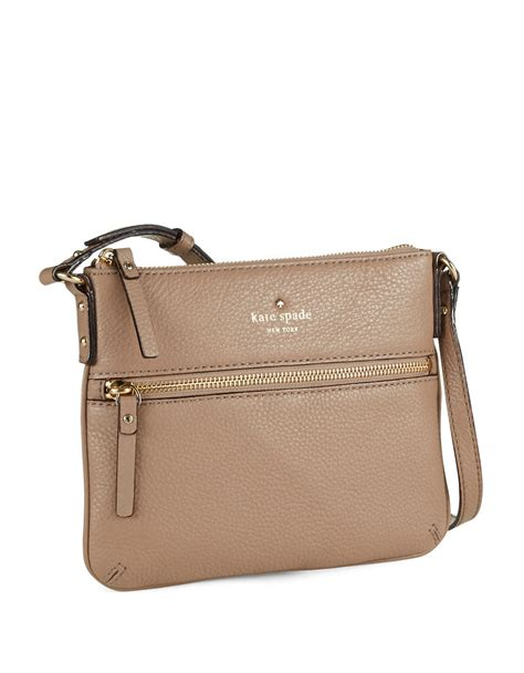 Katespade Leather Crossbody kate spade tenley leather crossbody bag in brown lyst