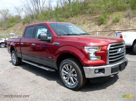 ford  xlt supercrew   ruby red metallic  truck  sale