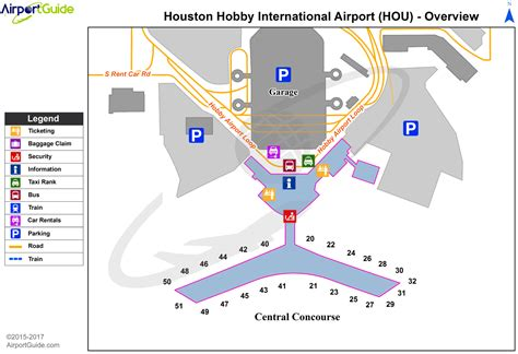 houston map hobby airport houston hobby airport map my