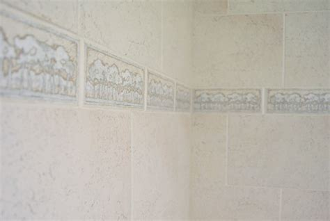 Replacing Kitchen Backsplash by Replacing Old Shower Border Tiles Young House Love