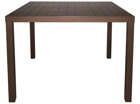 60 square dining table seats 8 source outdoor furniture liam aluminum 60 square dining table seats 8 scso1012306