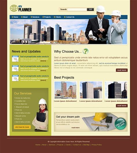 templates for construction website property website template 6534 construction
