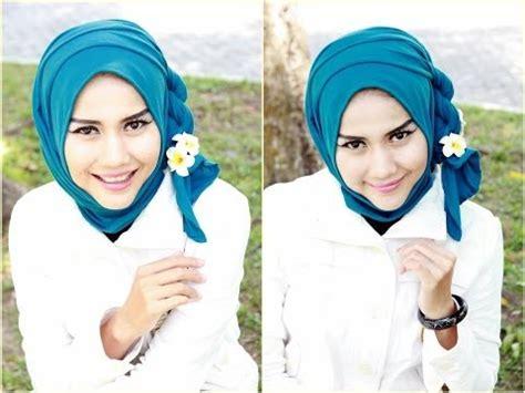 tutorial hijab pashmina untuk acara wisuda tutorial hijab pesta dan wisuda hijab paris by didowa