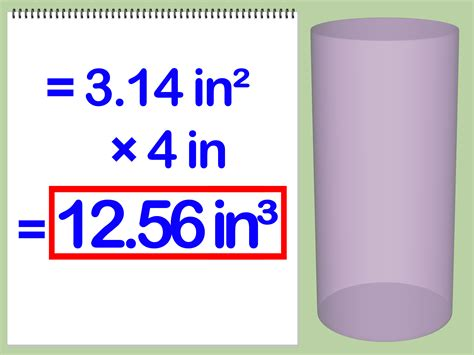 How To Find On How To Calculate The Volume Of A Cylinder With Exles