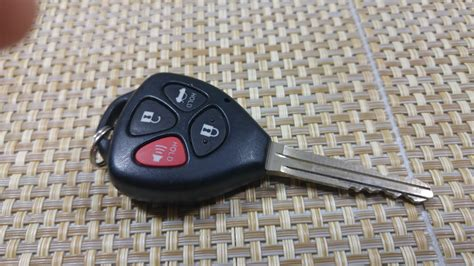 toyota car key battery how to replace keyless entry key fob battery on a toyota