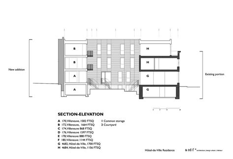 residence order section 8 h 244 tel de ville residence acdf architecture archdaily