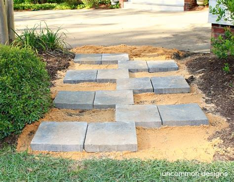 home depot patio pavers creating a paver quot zipper quot pathway with the home
