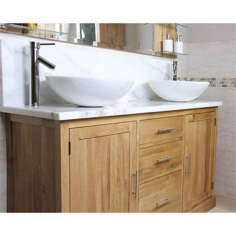 bathroom oak vanity units finesse oak and white marble bathroom vanity unit best